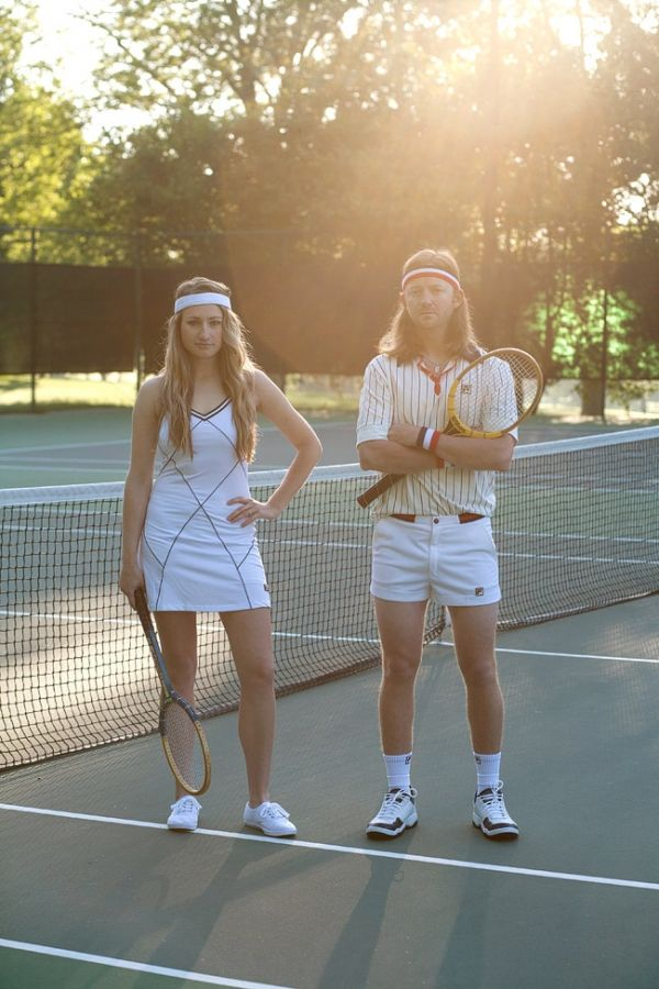 This could be a great hallowern costume! 70s tennis players