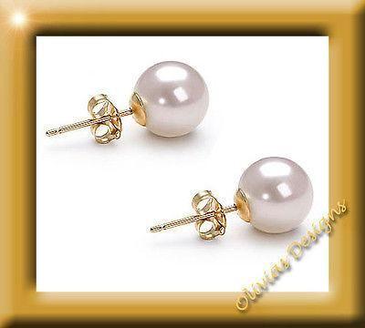 Juni Geburtsstein Weiß Akoya Perlen ca 6,4 - 6,7 mm Ohrstecker Ohrringe Gold 750  #gold #earwires #fashion #earstuds #bernstein #designer #ruby #semipreciousstones #earrings #amber