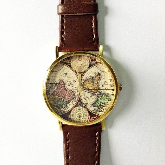 17 best images about sisters board on pinterest rocks shops and lace world map watch women watches mens watch leather watch boyfriend watch world map vintage style gold silver rose gift ideas gumiabroncs