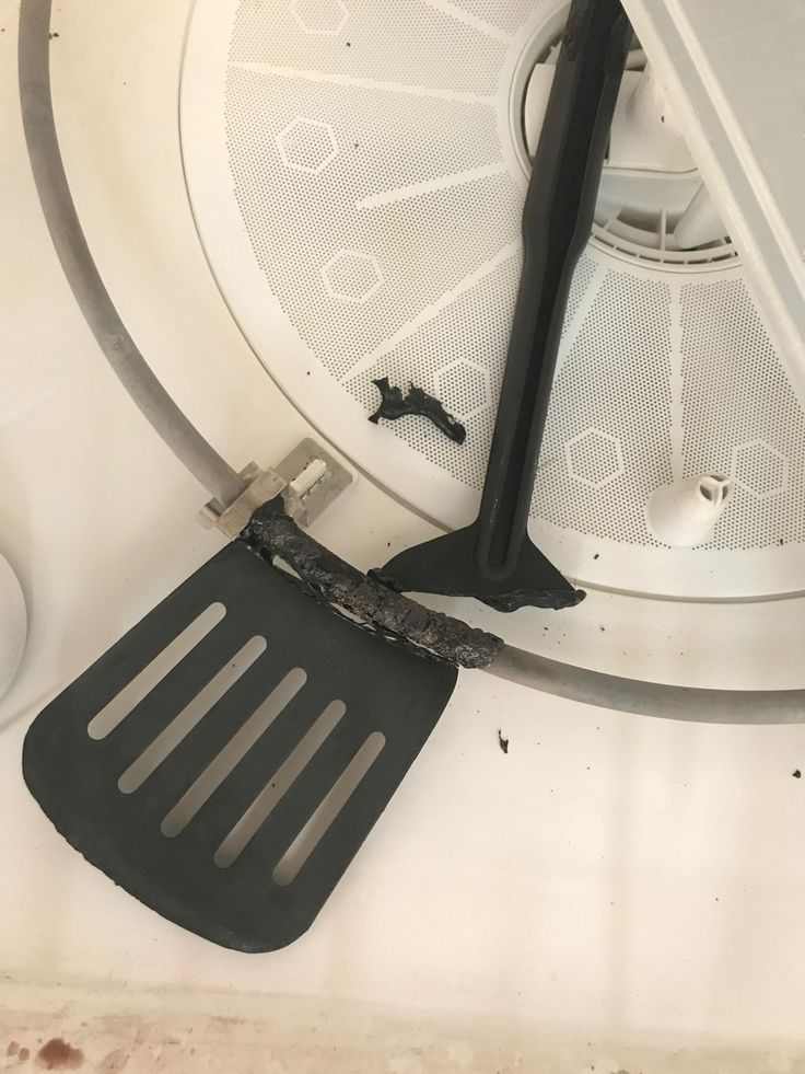 This spatula fell off my dishwasher rack and was melted to the heating element.