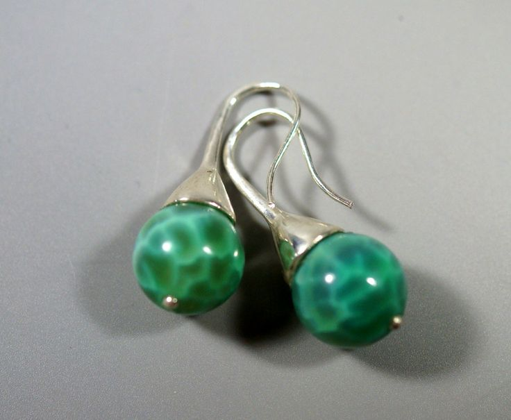 Emerald Agate & Sterling Silver