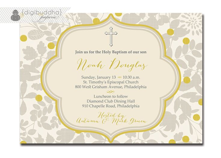 Best Invitations Images On   Christening Invitations