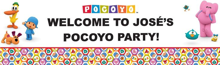 Pocoyo Personalized Vinyl Banner from BirthdayExpress.com