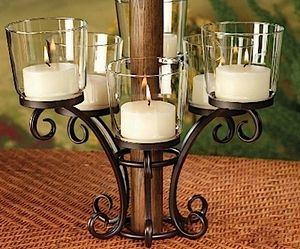 For The Patio Table, Estrella Umbrella Lighting Centerpiece