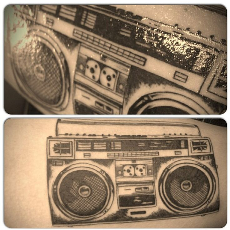 Ghetto blaster tattoo | Tattoo's | Tattoos, Dj tattoo ...