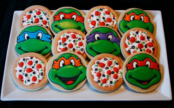 Teenage Mutant Ninja Turtles Cookies por CaseysConfections en Etsy