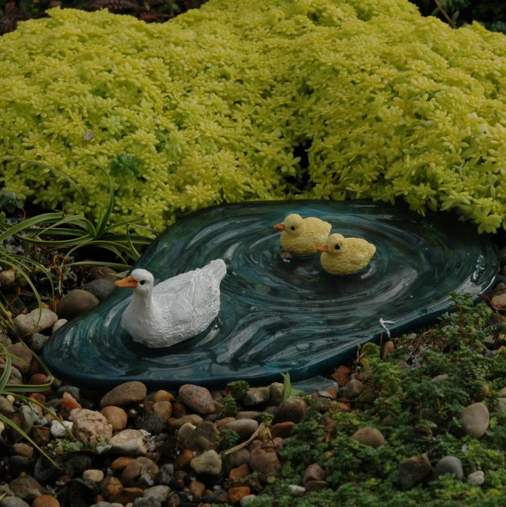 17 best images about water features for fairies on for Duck pond water