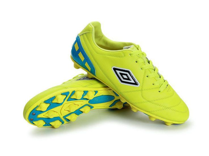 Umbro Cup AG Football Boots Fluorescent Green Blue Black