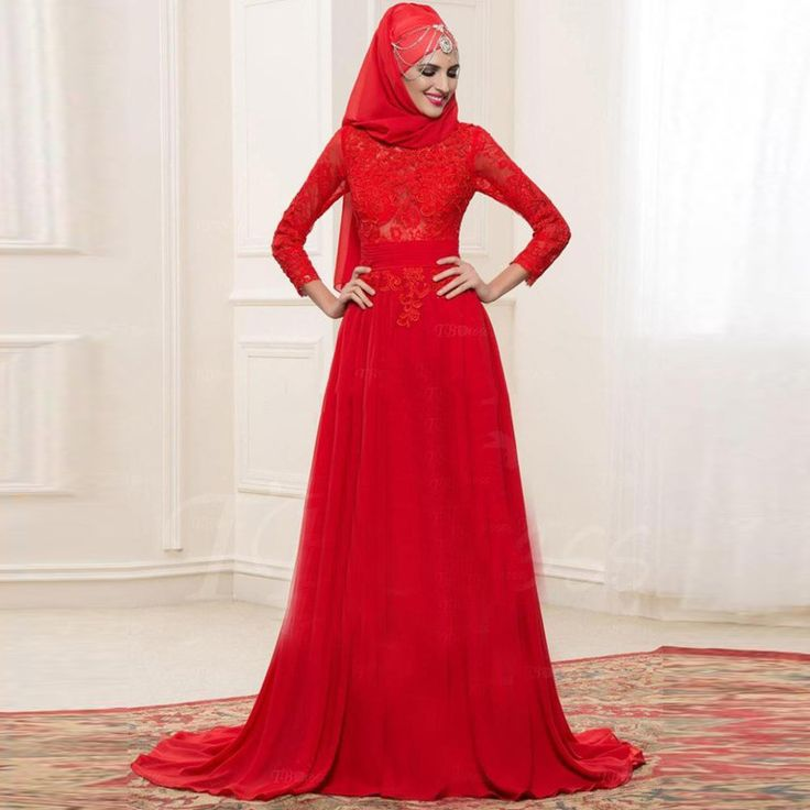 Find More Evening Dresses Information about Muslim Evening Dresses With Hijab Full Sleeves Long Red Evening Gowns Appliques Vestido De Festa Longo A Line Evening Dress Lace,High Quality dress up go girl,China dress white dress Suppliers, Cheap dress up wedding dresses from Suzhou Yast Wedding Dress Store on Aliexpress.com
