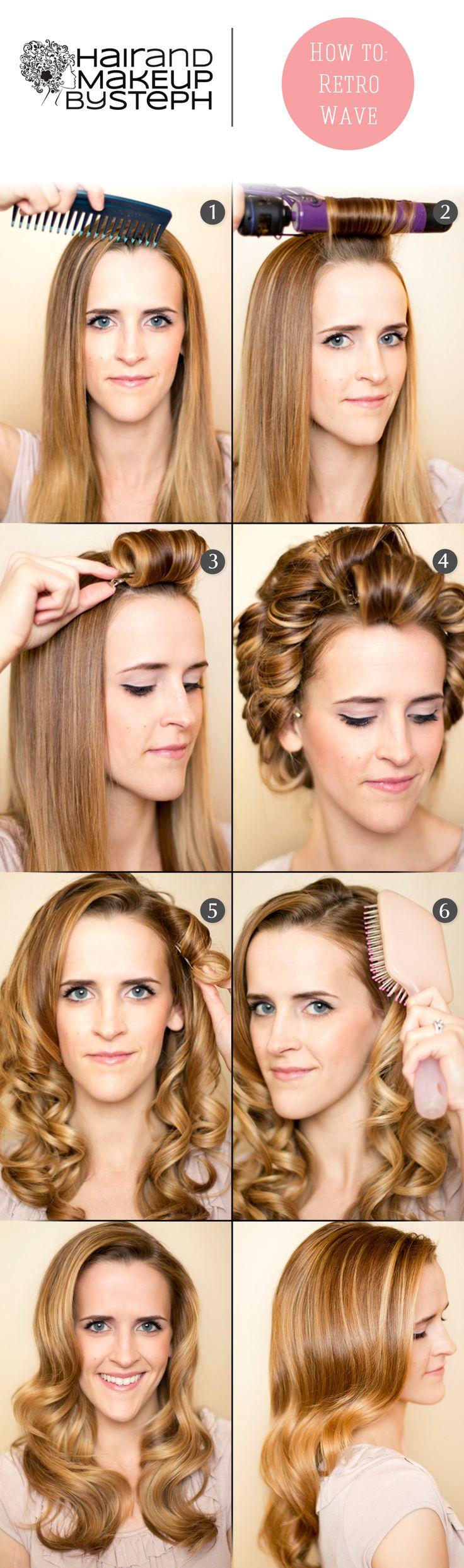 How to do retro curls via blog.hairandmakeupbysteph.com