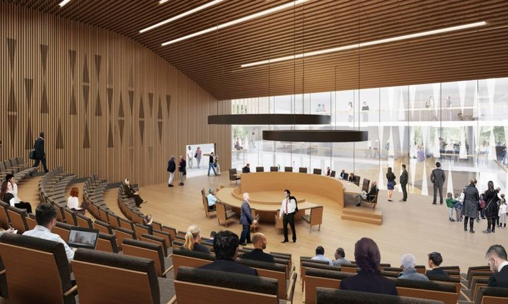 Henning Larsen Architects won a competition to design the sustainable Etobicoke Civic Centre in Toronto, Canada | Inhabitat - Green Design, Innovation, Architecture, Green Building