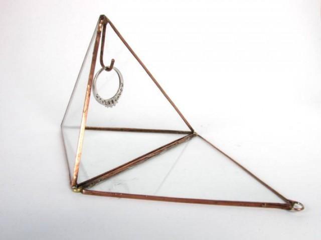 Ring Bearer Box / Engagement Ring Display / Wedding Ring Holder / Glass Display Box / Jewelry Box