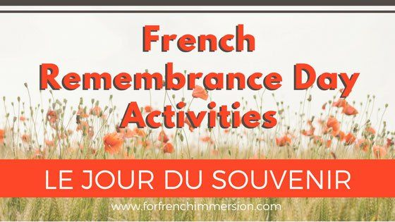 French Remembrance Day Classroom Activities: free resources + links to videos and crafts! Pour le jour du Souvenir.
