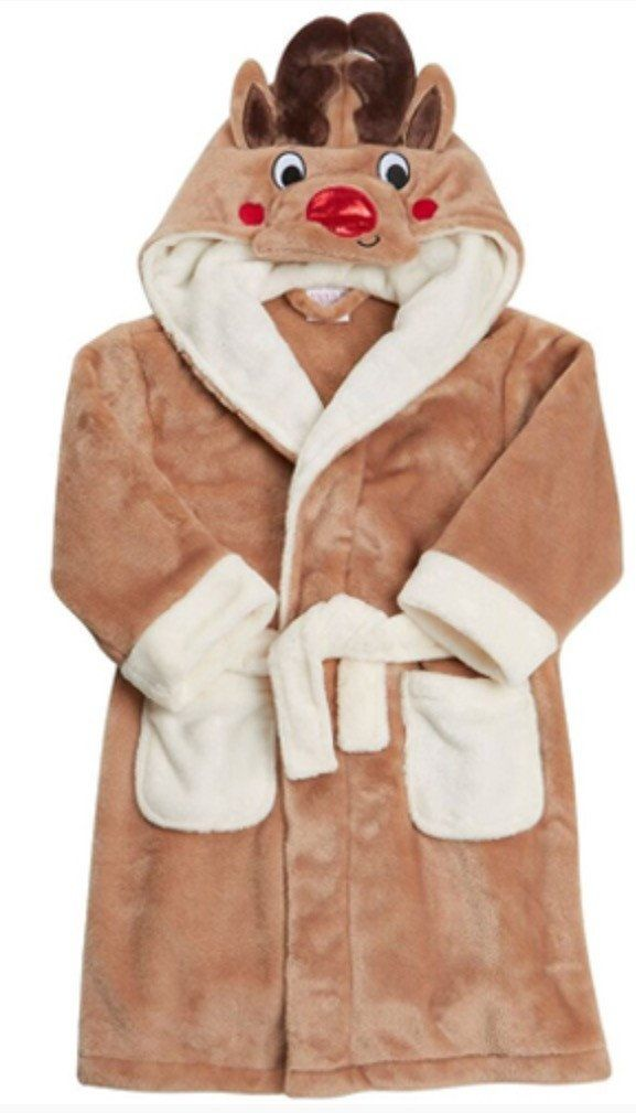 Reindeer hooded dressing gown