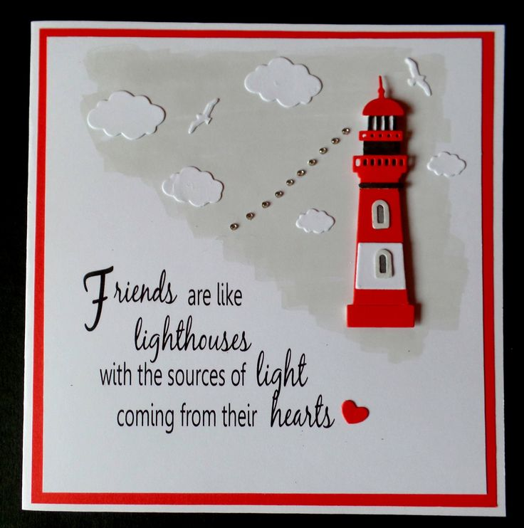 Hand Made Birthday Card Using Cottage Cutz Lighthouse