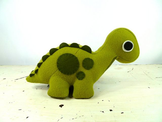 Plush Brontosaurus  by -LEFTZ, via Flickr