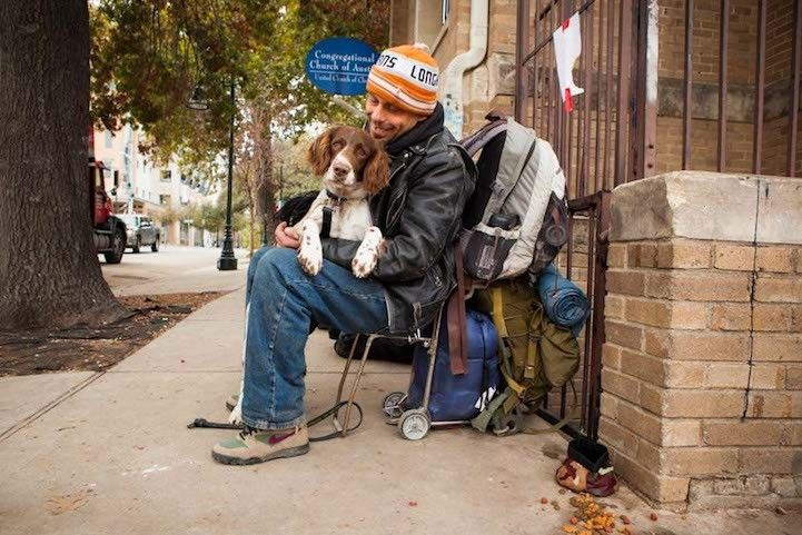 Photography Series Of Homeless People With Their Pets 11