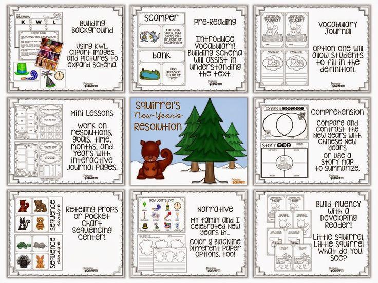 Squirrel's New Year's Resolution {Book Companion