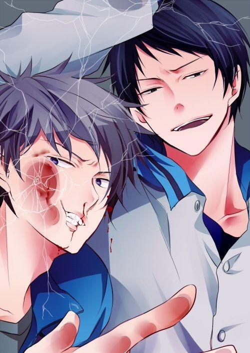 Shuuzou Nijimura x Shougo Haizaki | Kuroko no Basuke | ♤ #anime ♤ #anime trapped behind glass