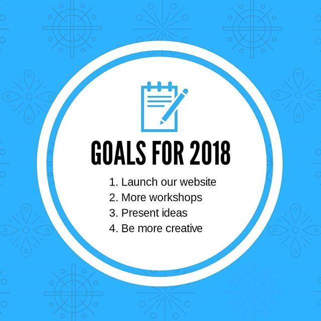 Estes são os nossos objetivos e os teus quais são?  #nediuprocks #NEDIUPOFICIAL #2018 #goals