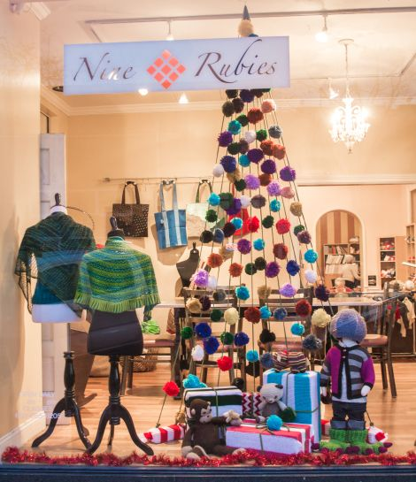 We Knit a Window Display for our Local Yarn Shop ||| Knits for Life