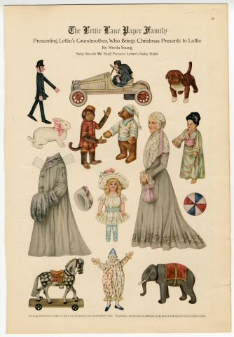 75.2746: The Lettie Lane Paper Family: Presenting Lettie's Grandmother | paper doll