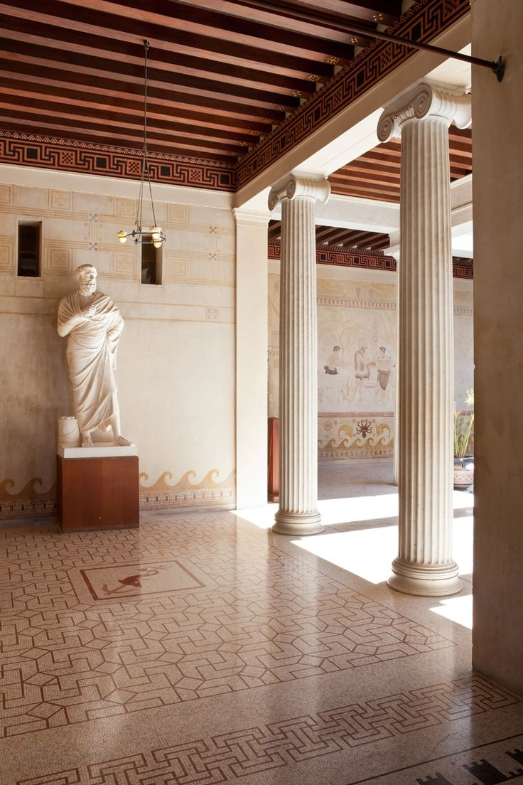 Прихожая греческой вилле Kerylos: древний дворец Ривьера, Болье-сюр-Мер - Управляемый Culturespaces: