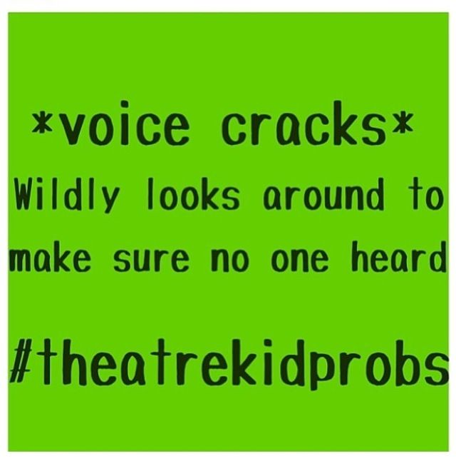 I'm not that lucky. At least the person next to or across from me notices and acknowledges the fact my voice cracks.
