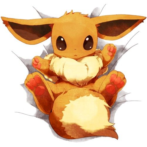 Pokemon - Eevee I want to hug him so much so cute!