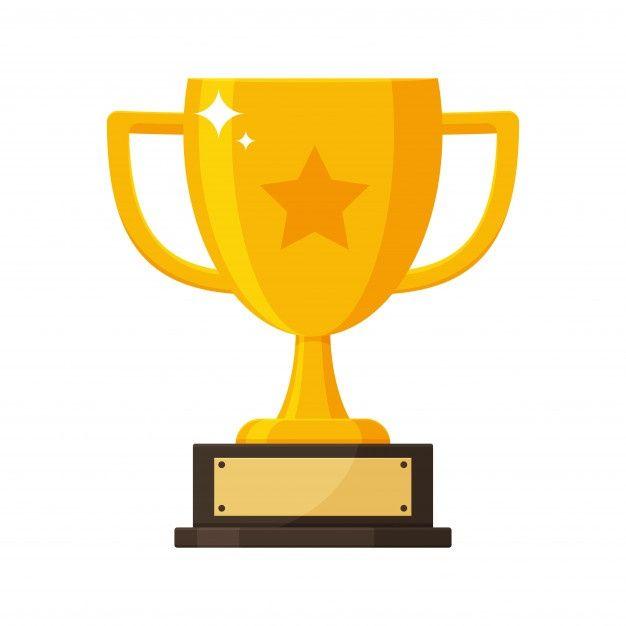 Zolotoj Trofej S Imennoj Tablichkoj Pobeditelya Konkursa Ilustrasi Logo Keren Desain Logo Bisnis