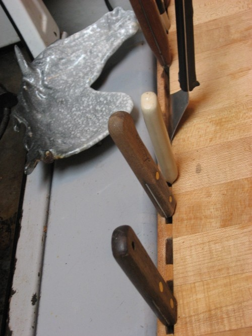 or this is cool. but what would i do with my knife block my husband made me?