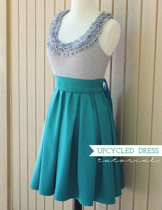 DIY dress, simple but cute for the spring.
