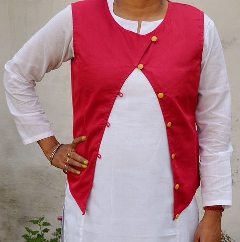 Deep Pink Munga Silk Jacket