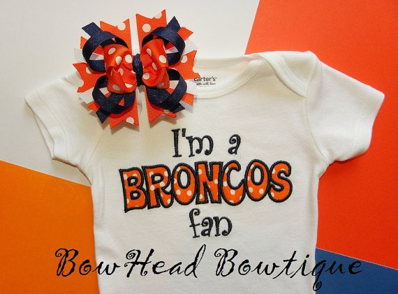 I'm a Broncos Fan  Denver Broncos Applique by BowHeadBowtiqueInc, $28.00