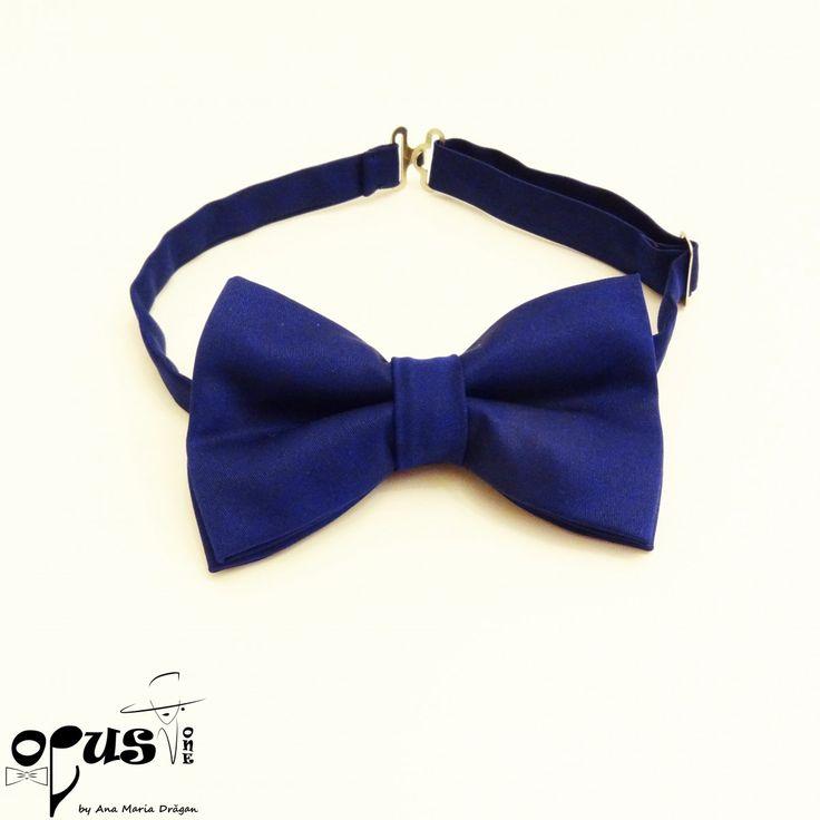 Set Papion si Bentita de par Albastru - Opus One - Accesorii, Bijuterii, Papioane Handmade