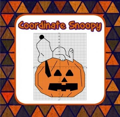 Snoopy Halloween Coordinate Graphing Fun! - Ordered Pairs, all 4 Quadrants from Mathematic Fanatic on $1.50  (3 pages)  - Plot ordered pair coordinates in all 4 quadrants.  Have some Halloween fun!