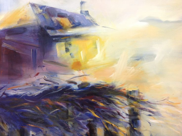 Night Lights, Hill End –  Oil on canvas PLATFORMstore