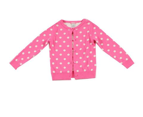 E Land Pink Polka Dot Girls Cardigan: Clothes for Babies and Kids|Gandzee