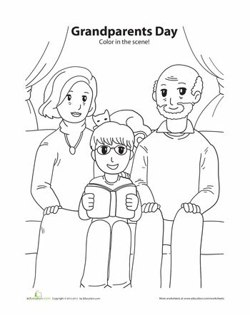 Worksheets: Grandparents Day Coloring