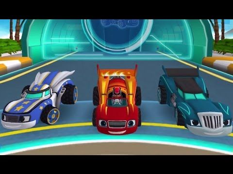 blaze and the monster machines velocityville car game racing cartoon for