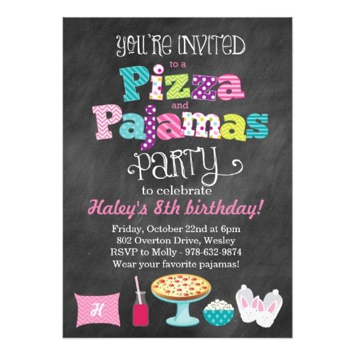 Best Pizza Birthday Party Invitations Images On
