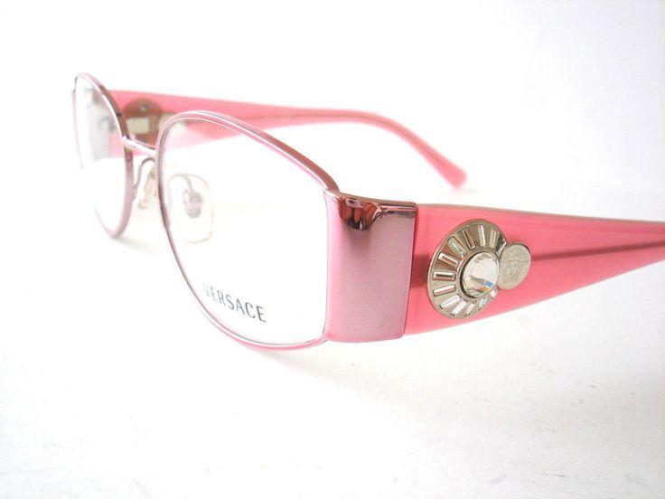 New Versace Eyeglasses eyewear 1123 Rose 1056 Authentic New 51-17-135 #versace #Rectangular