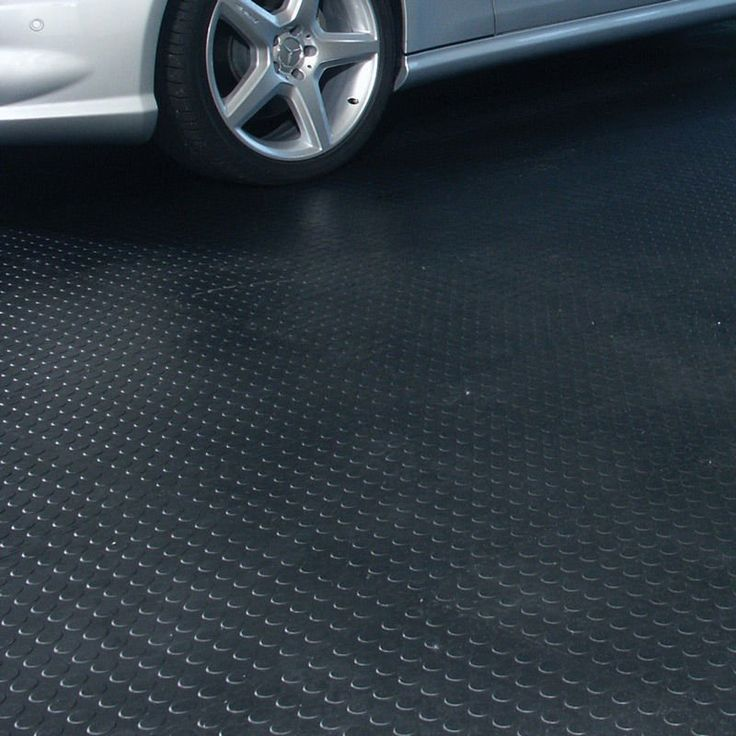 Rubber Garage Flooring as Your True Protection: Round Dot Rubber Garage Flooring ~ bidycandy.com Garage Inspiration
