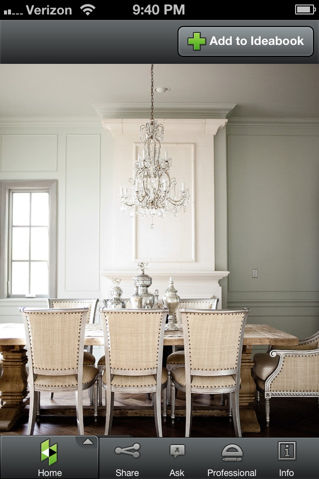 Rustic Table Elegant Chairs Dining Room Idea Found On Houzz