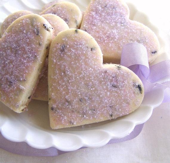 Lavender Heart Tea Cookies