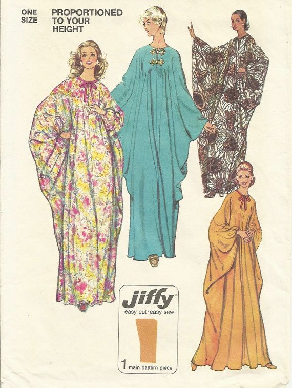 70s Caftan Pattern One Size Fits All Simplicity by lasavonfemme, $8.00