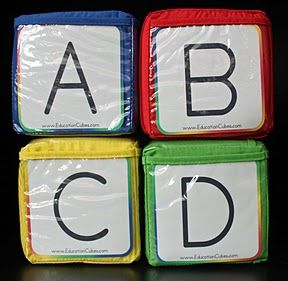 Customizable learning blocks: Cubes Member, Abcd Education, Cubes Updates, Education Games, Learning Cubes, Cubes Ideas, French Teaching, Big Dice, Education Cubes