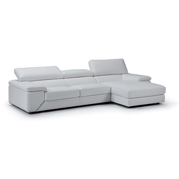 Like Sectional - Modern white leather sectional sofa from CraveFurniture.com