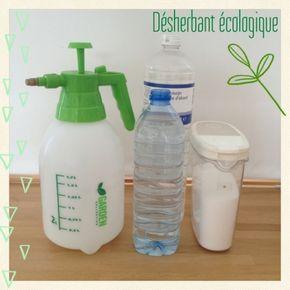 Mauvaises herbes : pulvérisateur 2 l. 1 l eau tiède + 1/2 kg sel, remuer, ajouter 1 l vinaigre blanc, remuer et laisser refroidir. Pulvériser un jour ensoleillé, et arroser le lendemain s'il ne pleut pas.