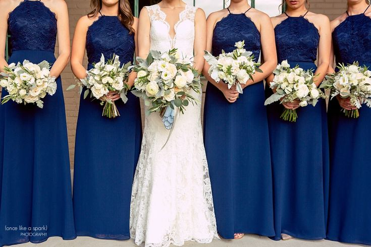 The Foundry at Puritan Mill Wedding :: Meagan + Brandon :: with Tyler » (Once Like a Spark) Photography | Wedding Bouquets | Navy Bridesmaids Dresses | Atlanta Wedding